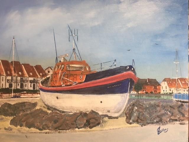 Lifeboat at Hythe Marina