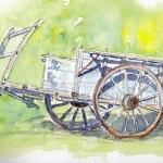 Old-farm-cart-at-Manzac