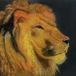 King of the jungle - pastels