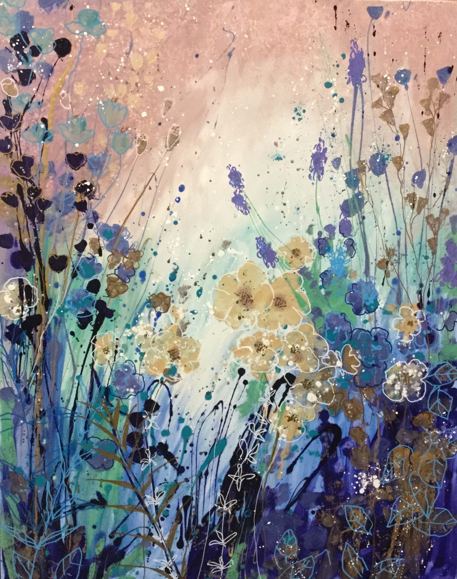 Woodland - painting by Jenny Muncaster