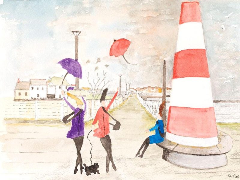 A windy day on Hythe promenade