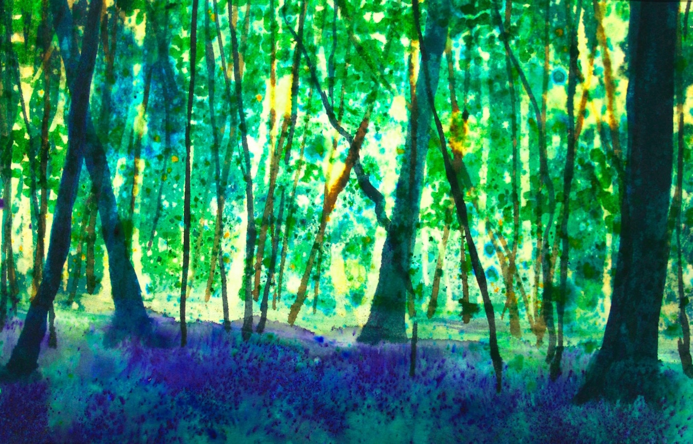Woodland scene using Brush